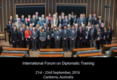 ESD in the International Forum on Diplomatic Tranining in Australia